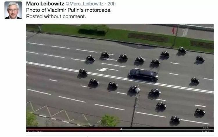 Putins motocade - kjmh | ello