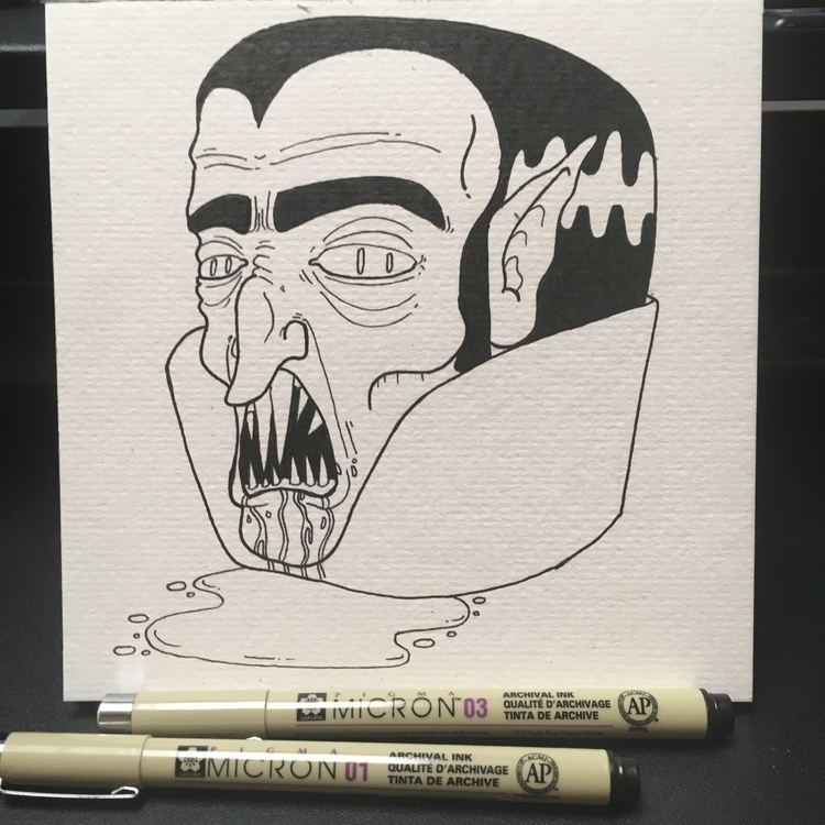 Dracula Doodle 6x6 ink - duhsteeparker - duhstee_parker | ello