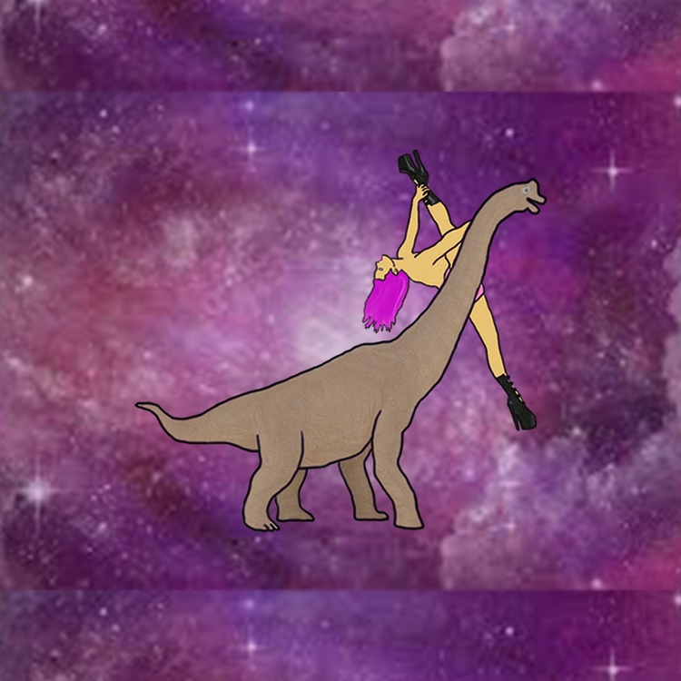 illustration, dinosaur, dancer - zootghost | ello