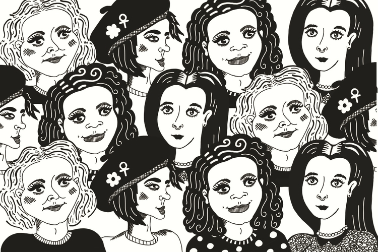 Creative women illustration dig - sianellis | ello