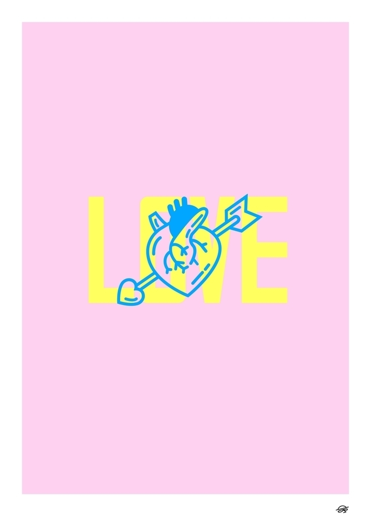 Love trust wrong  - artprint, art - dearpete | ello