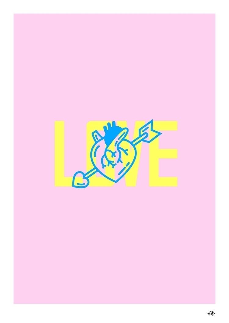 Love trust wrong  - artprint, art - dearpete | ello