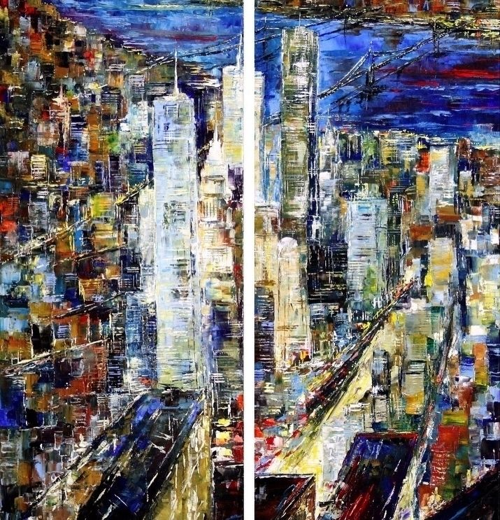 La Mela Night Bruno Oil Canvas  - bitfactory | ello