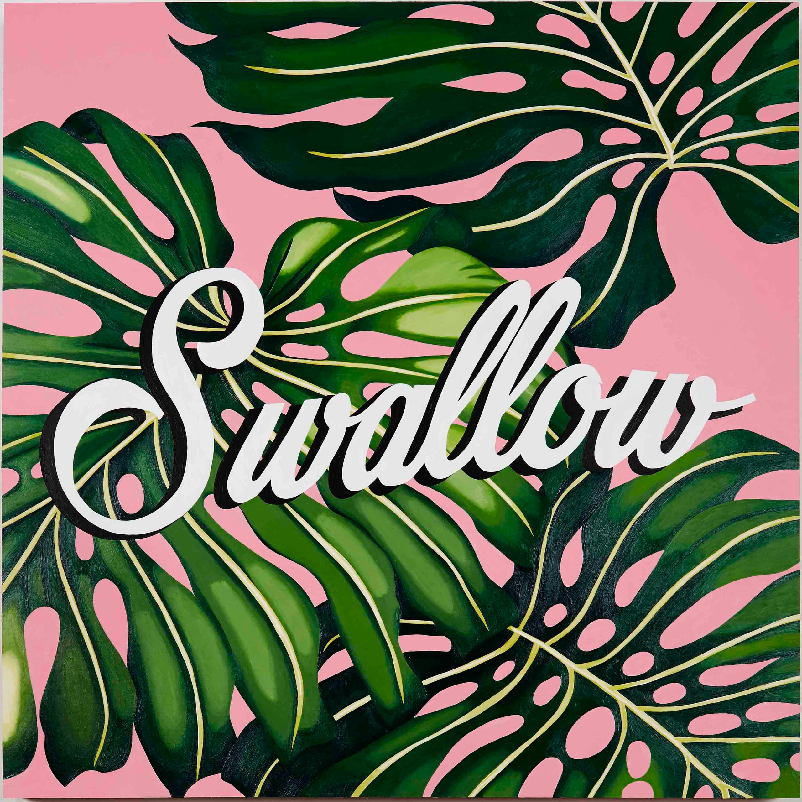 Swallow, 30 30, acrylic wood pa - thecarmenlips | ello