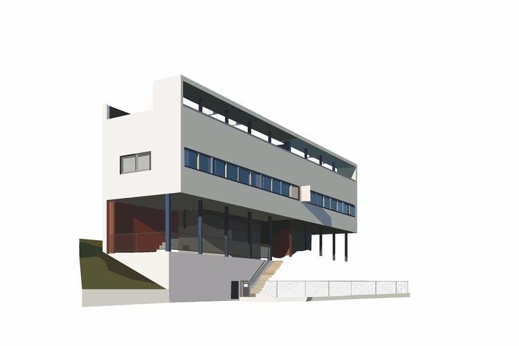 Haus Le Corbusier, Weißenhofsie - sophieillustration | ello