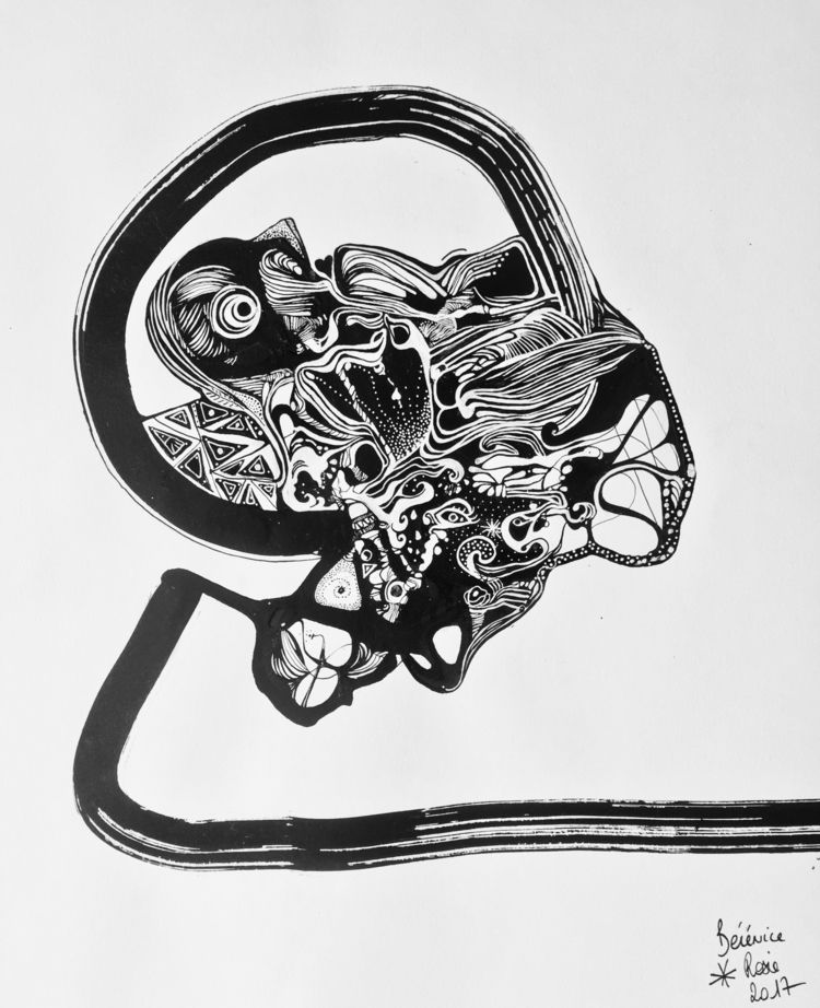 mind? 2017 Ink paper - abstract - berenice_rosie   ello