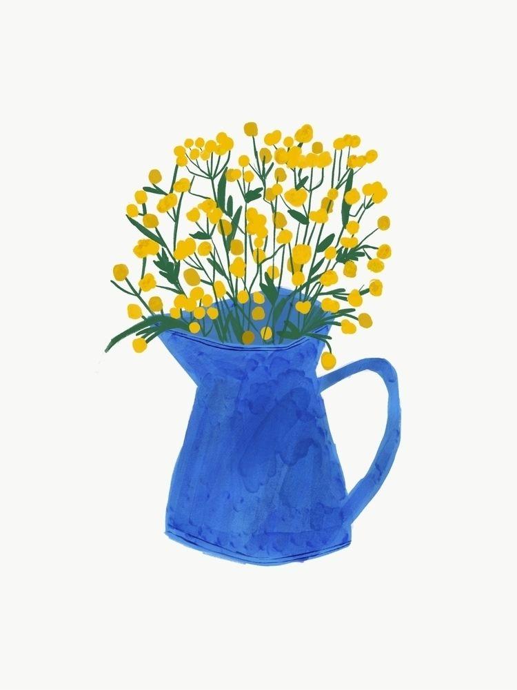 Cool colour jugs - art, illustration - bitweirdthat | ello