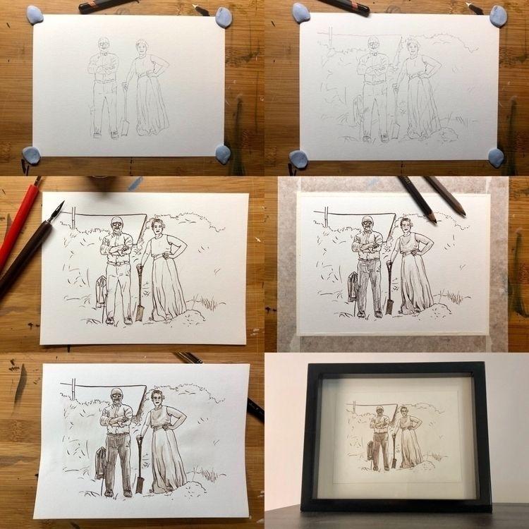 Irish Gothic study, sketch proc - burly-sketches   ello