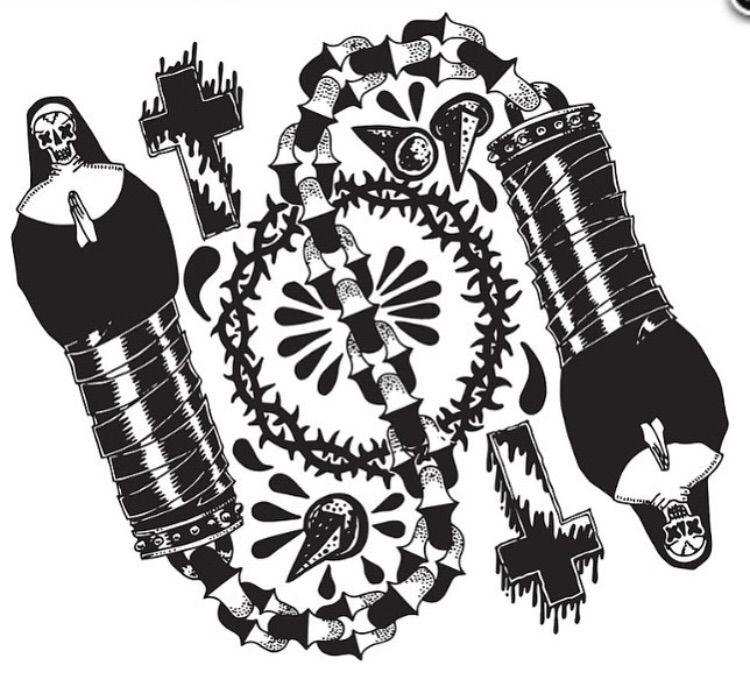 Nun-Chucks Ink paper - illustration - deathcave   ello
