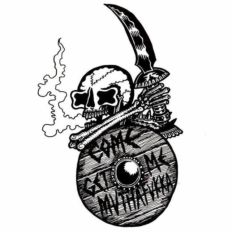 mutha-fukka -Ink paper - illustration - deathcave   ello