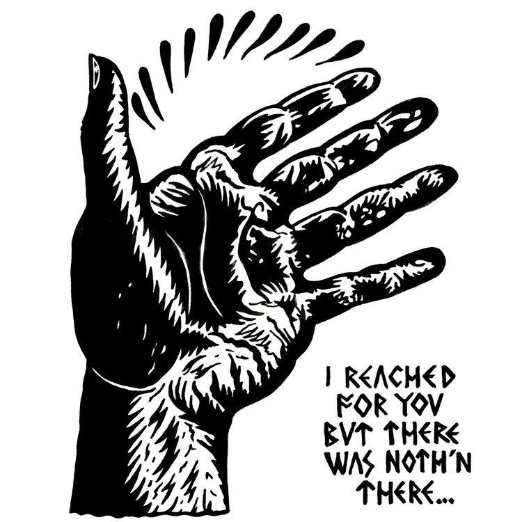 reached -Ink paper nk - illustration - deathcave   ello