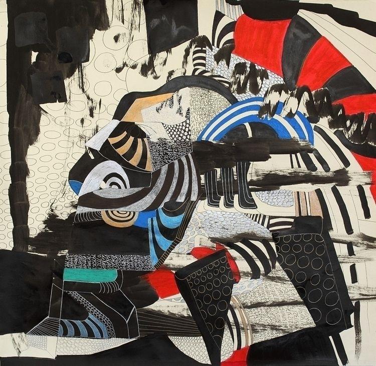 Year 2017: Abstraction 32 - Pen - dannyartist | ello