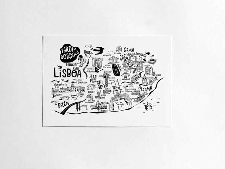 Illustrated lisboa city map - lisbon - siralobo | ello