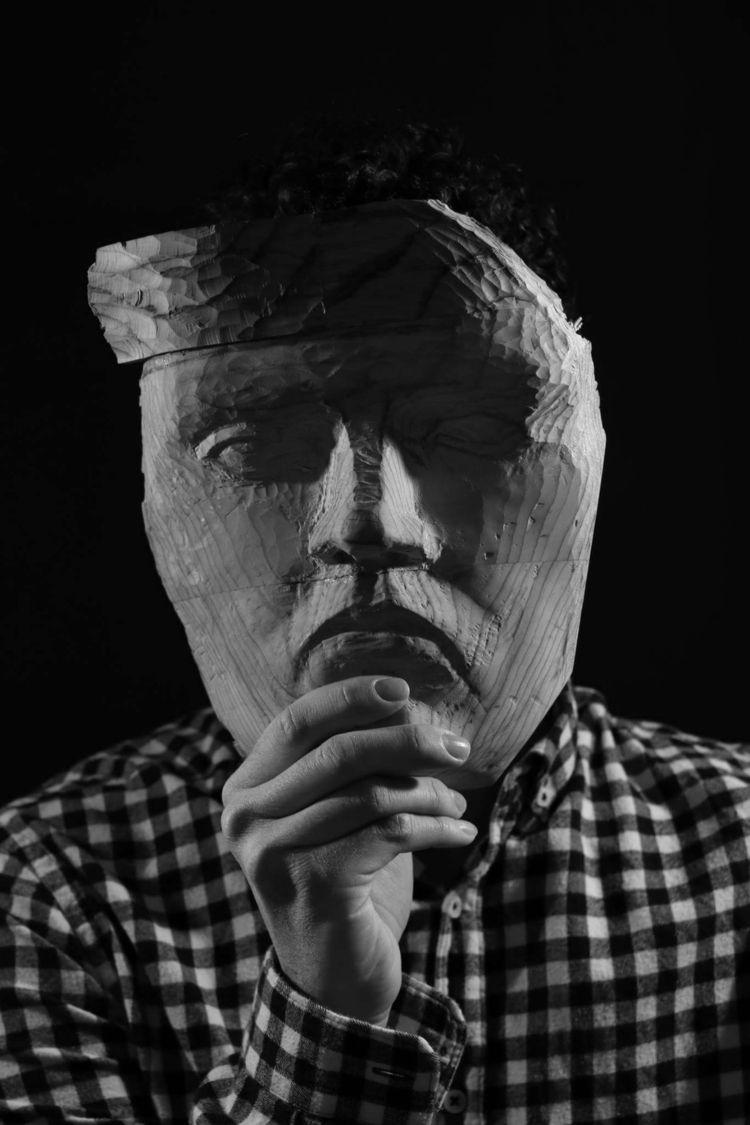 boy, mask, model, blackandwhite - saraph97 | ello