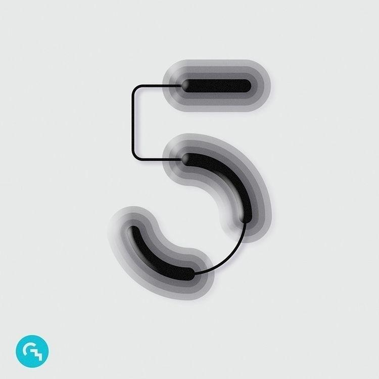 Numbers_5 - art, typography, type - game4d | ello