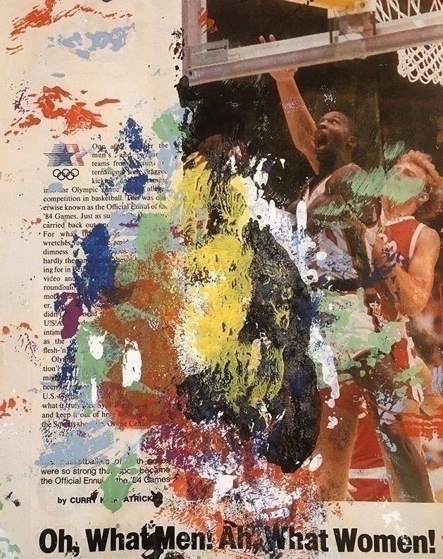 Michael Jordan '84 Enamel paint - artbyrobertperez | ello