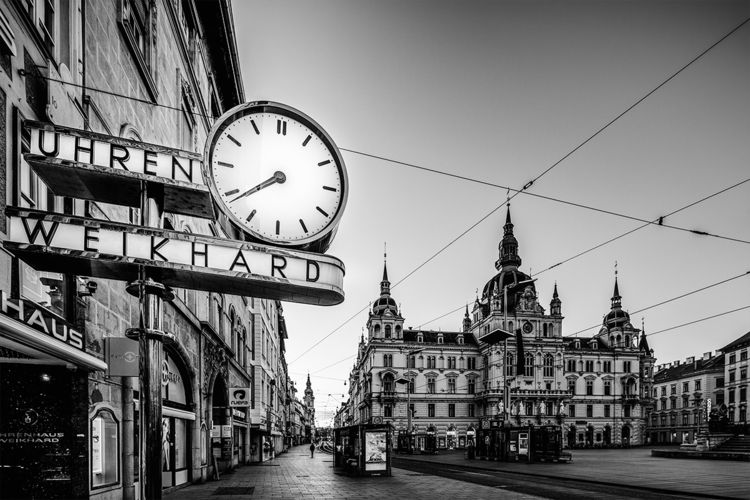 Graz main square Weikhard clock - stephanepictures | ello