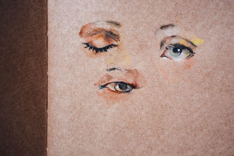 eye studies watercolor .2018 - nobrem | ello