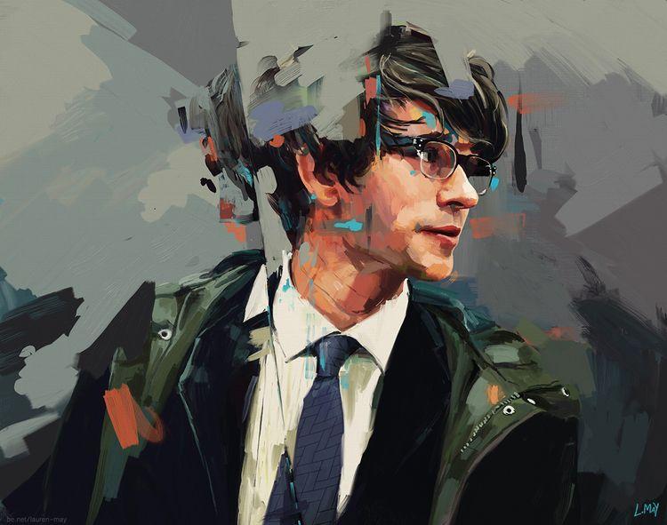 Quartermaster - painting, portraiture - laurenmayart | ello
