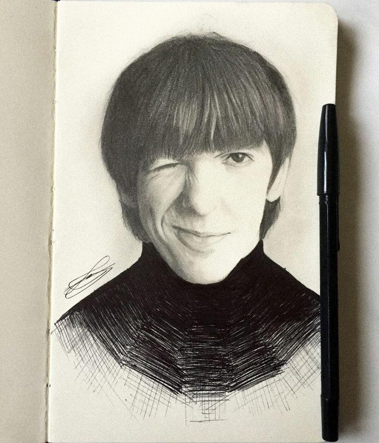 George Harrison 2b, 6b pencils  - dikaism | ello