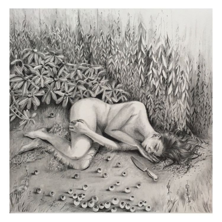 'Slumber' Graphite Paper - art, drawing - amygaudion | ello