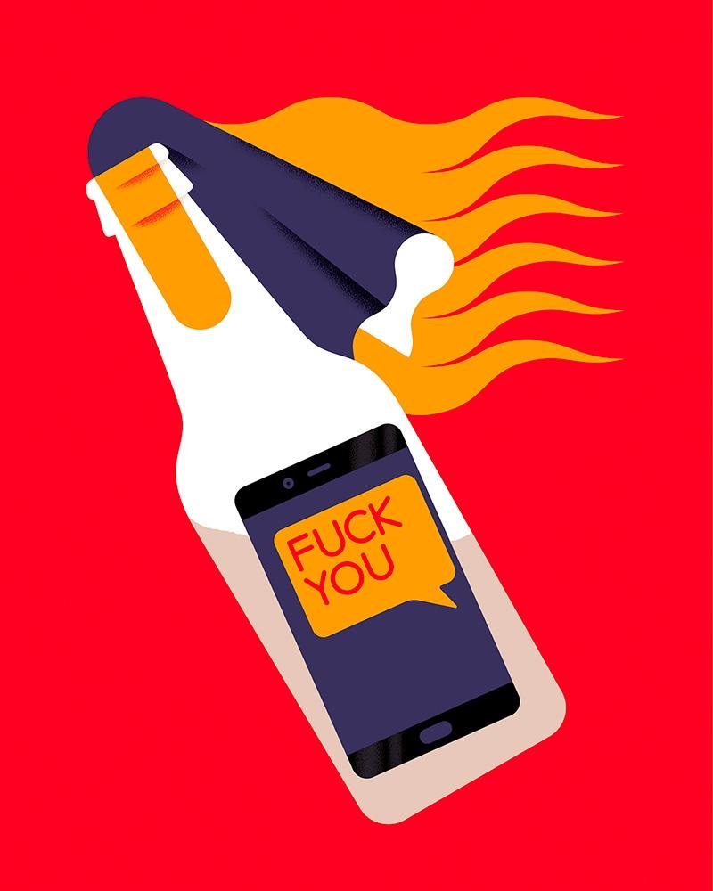 Message bottle - illustration, artwork - alconic | ello
