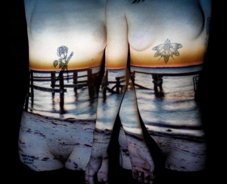 body, tattoos, women, sunset - tragedyfilms   ello