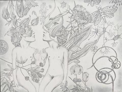 silverpoint panel entitled 'Dou - bunnyplanet | ello
