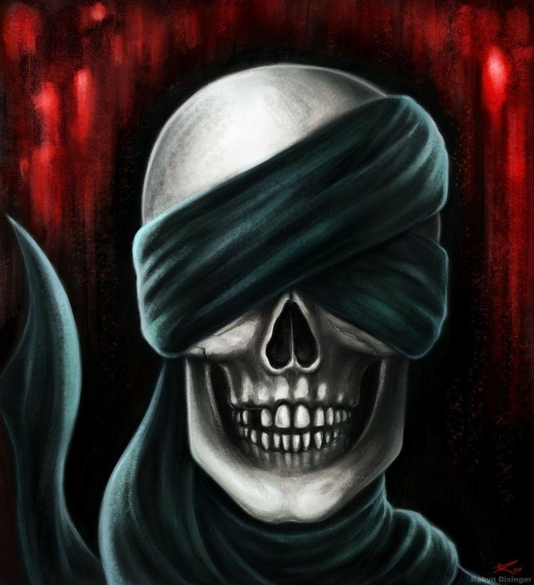 skull, skeleton, skullart, darkart - jollymacabre | ello