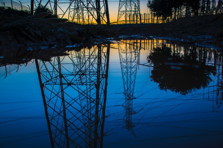antenna, cable, reflection, water - lodophotos | ello