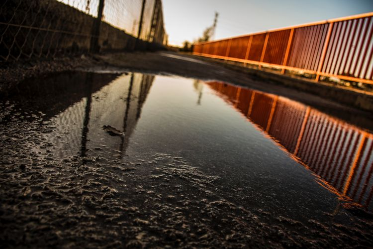 brigde, water, train, rail, reflection - lodophotos | ello