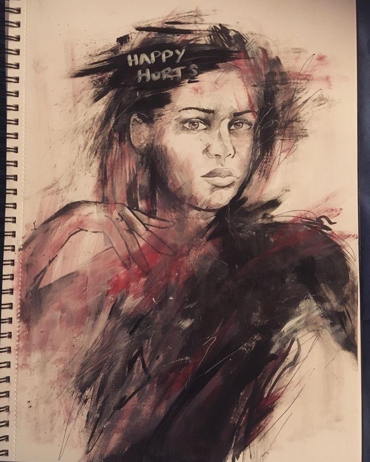 "illustration""happy hurts"" mixed - jordansummers | ello"