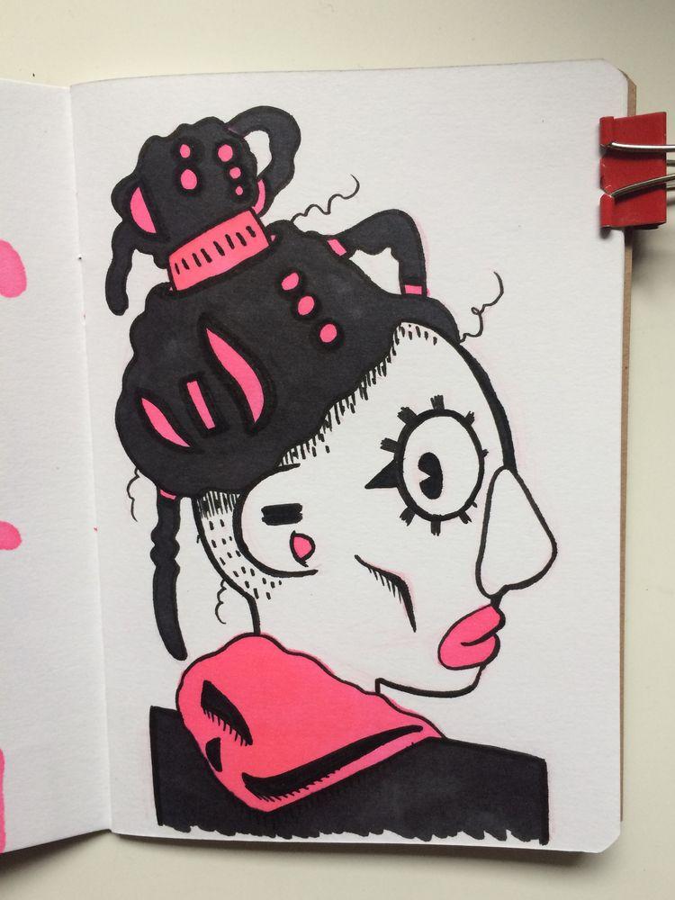 shoulder man - art, illustration - dyldo | ello