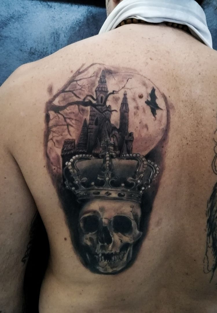 King skull! work! stars - tattoo - joetattoos | ello