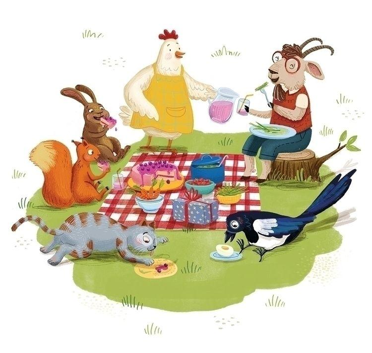 Picnic - childrensbook, picturebook - puikeprent | ello