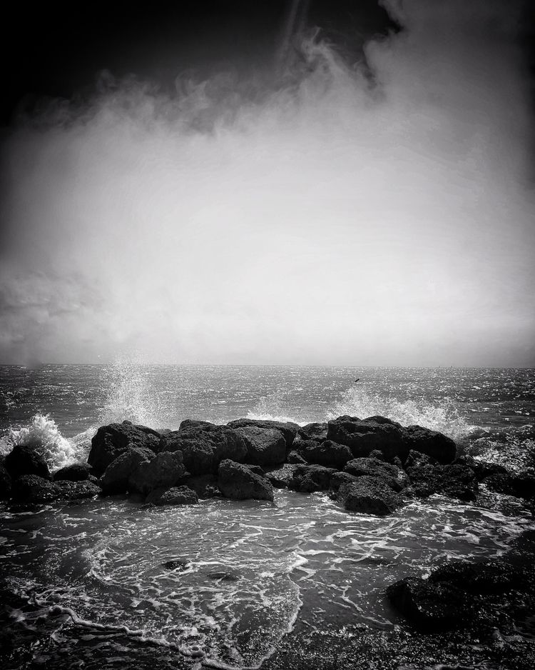 Rough Seas - keywest, waves, blackandwhite - adamwhittakernyc | ello