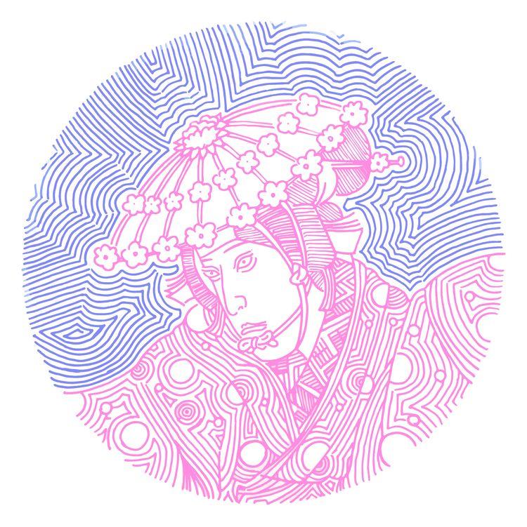 japan, kimono, samurai, purple - stoikos | ello