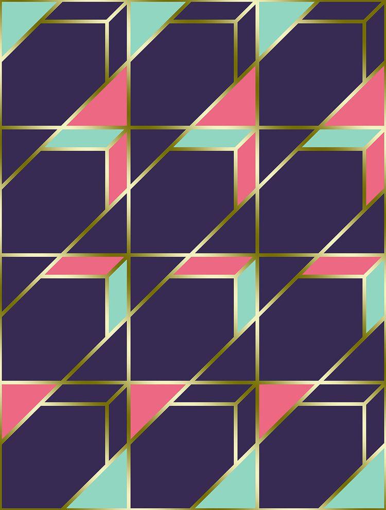 Ultra Deco 1 violet geometric c - designdn | ello