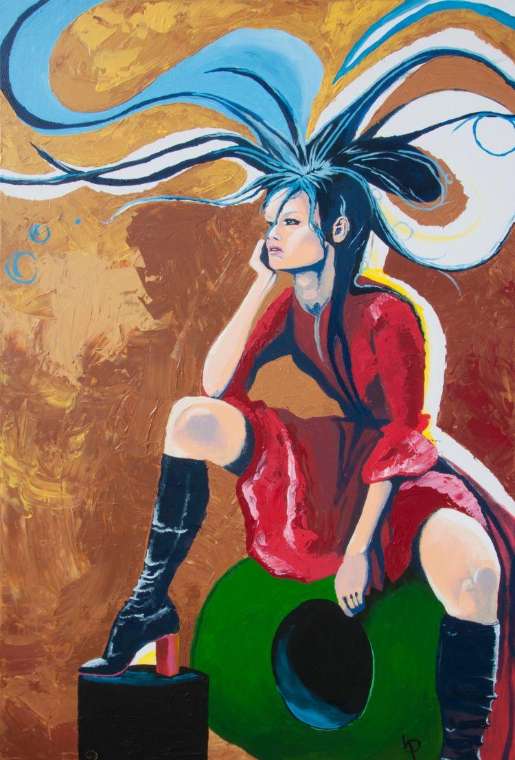 Girl 2'x3' acrylic canvas. Subm - bortron | ello