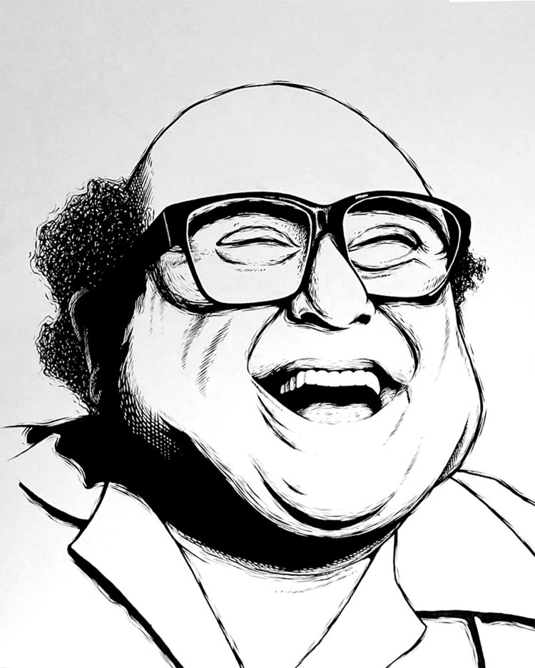 Danny Devito - illustration, drawing - jawntype | ello