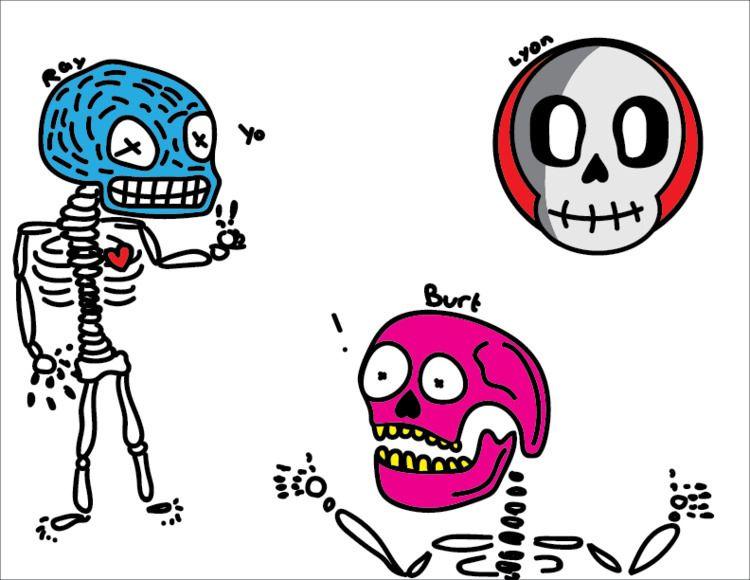 Skull illustrator assignment cl - asomcha | ello