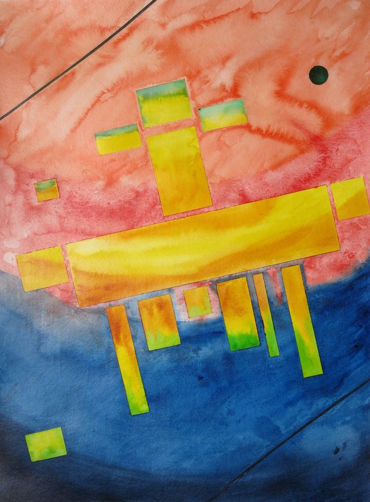 wax 40 54 cm - watercolor, paper. - carycastro | ello