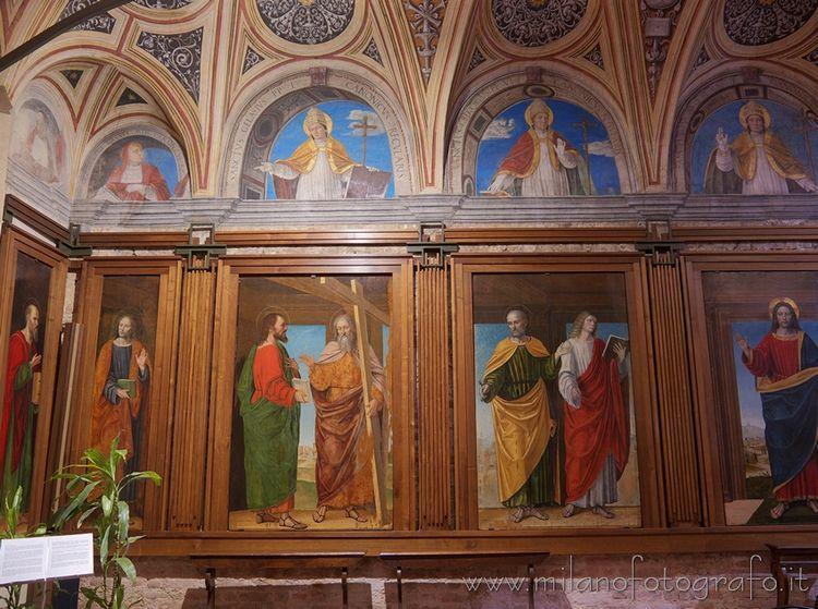 Milan (Italy): Frescoes Bergogn - milanofotografo   ello