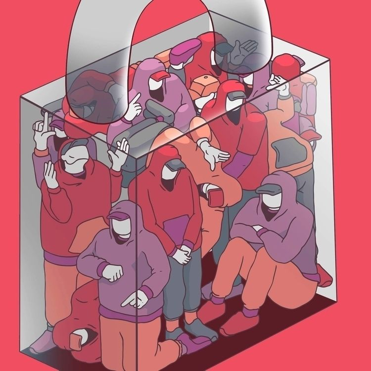 Lad cube - illustration, drawing - bakedlab | ello