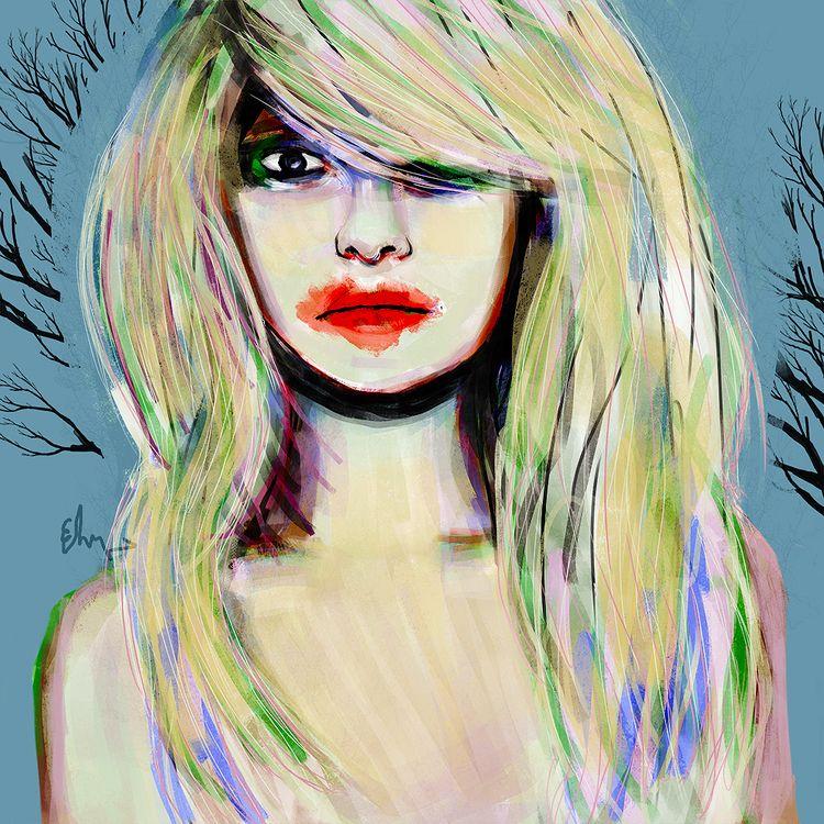 caught - portrait, vampire, print - andaelentari | ello
