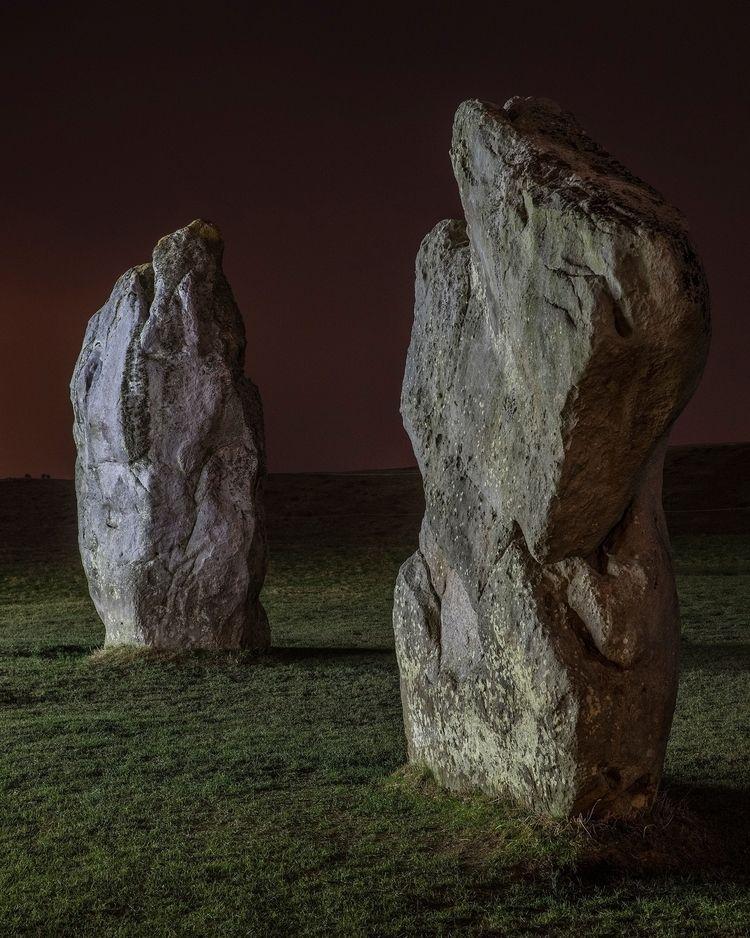 Avebury Stones late night light - forgottenheritage   ello