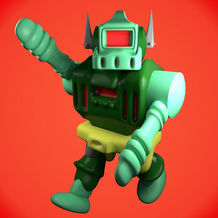 Planetary - robot, toy, render, anime - thecoolcyborg | ello