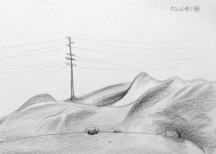 sketch, landscape, nature, pencil - mlui | ello