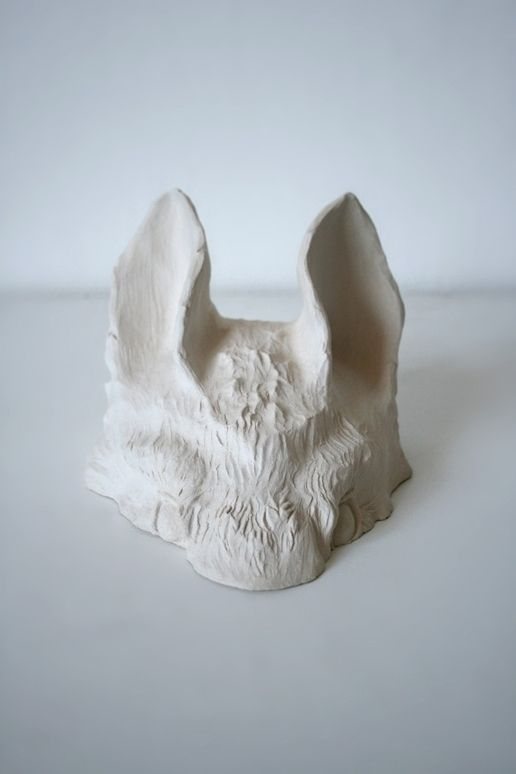 Loup blanc (2012). Céramique gr - ameliebo   ello