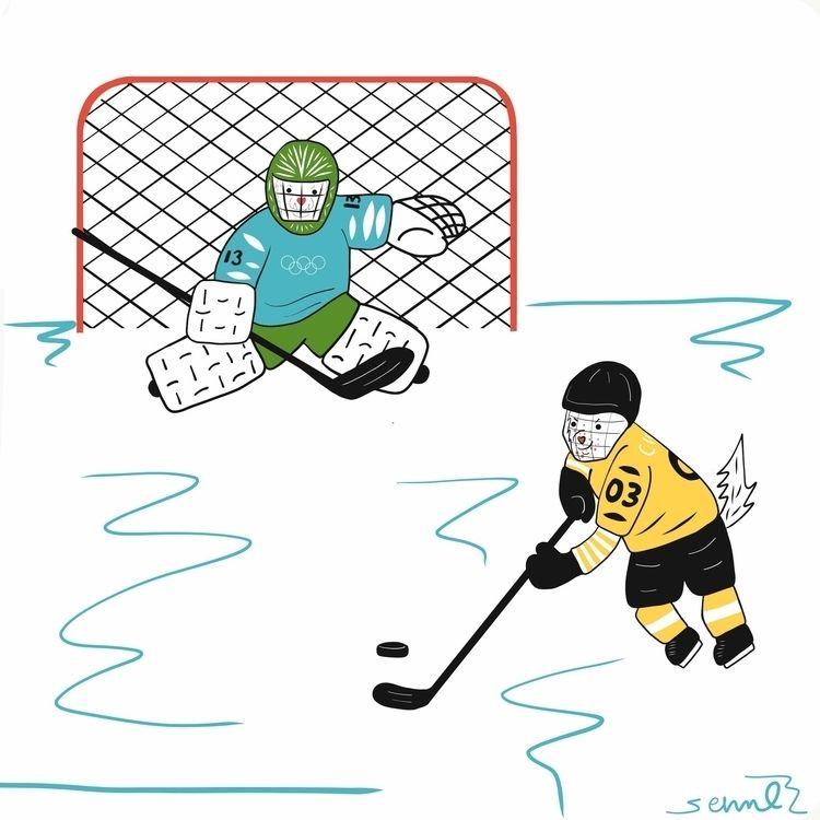 Cider Miso: Hockey (Part Comic  - emilynettie   ello